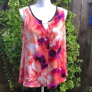 Worthington Orange and Purple Top Sz L   A210